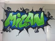 Kinderkamer graffiti
